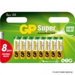 Baterija GP 1,5V,LR6AA,S.alkalna, blister 8bat.