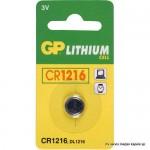 Baterija GP 3V,CR1216, Litijeva