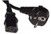 Kabel Euro 1,8m z vtikačema črn
