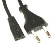 Kabel priključni črn ,2,5m z vtikačema za radio