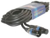 Mikrofonsk kabel 10m, XLR vtikač -vtičnica 3 pin