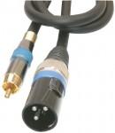 Mikrofonski kabel 2m, XLR M,3pin- činč M mono
